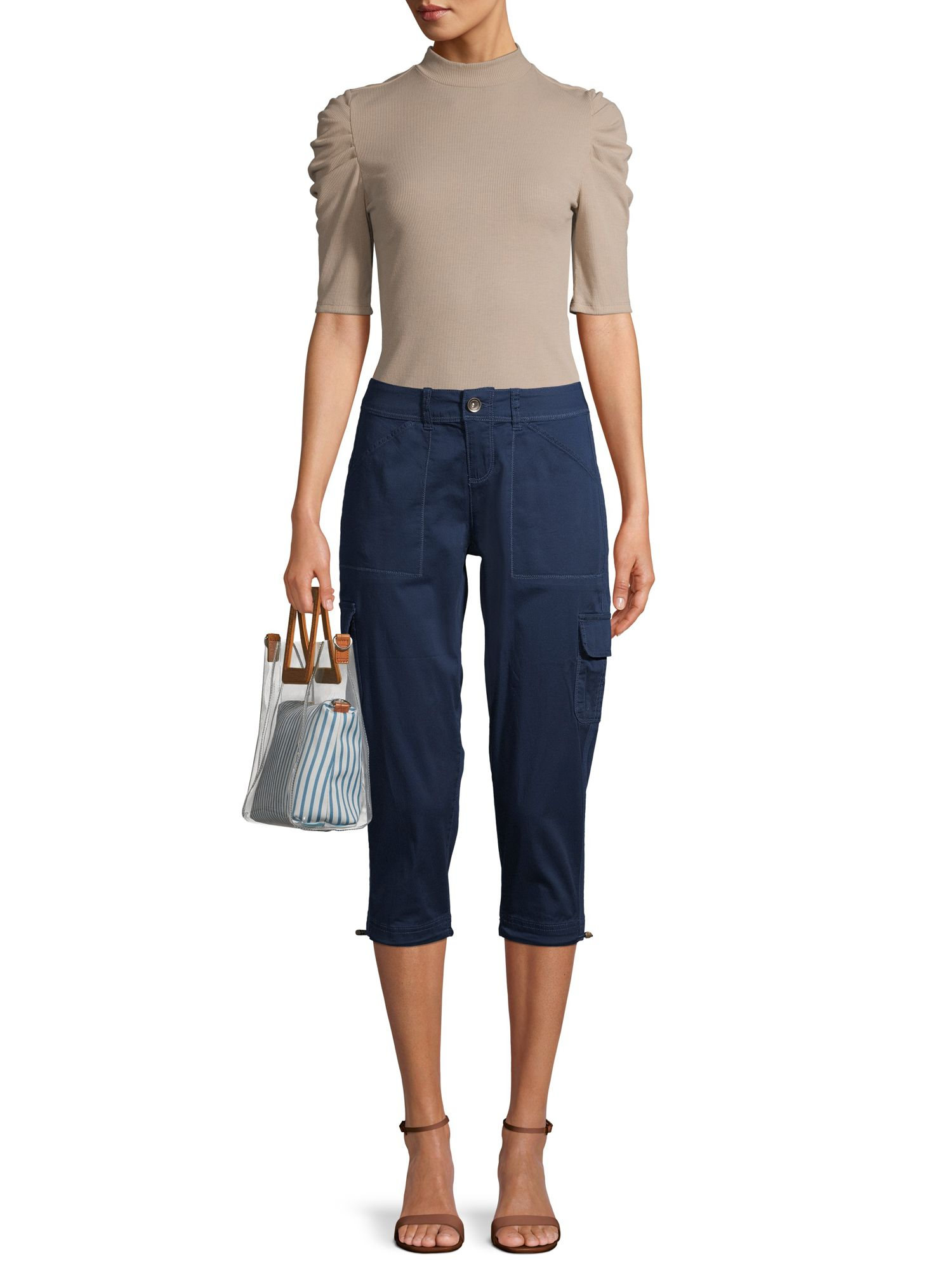 Time And Tru Time And Tru Women S Cargo Capri Pants Walmart Com Womens Cargo Capri Pants Capri Pants Pants [ 2000 x 1500 Pixel ]