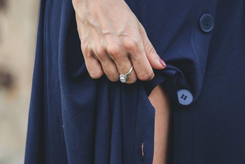 #zara #look #blogger #fashion #streetstyle #blue #dress #knit