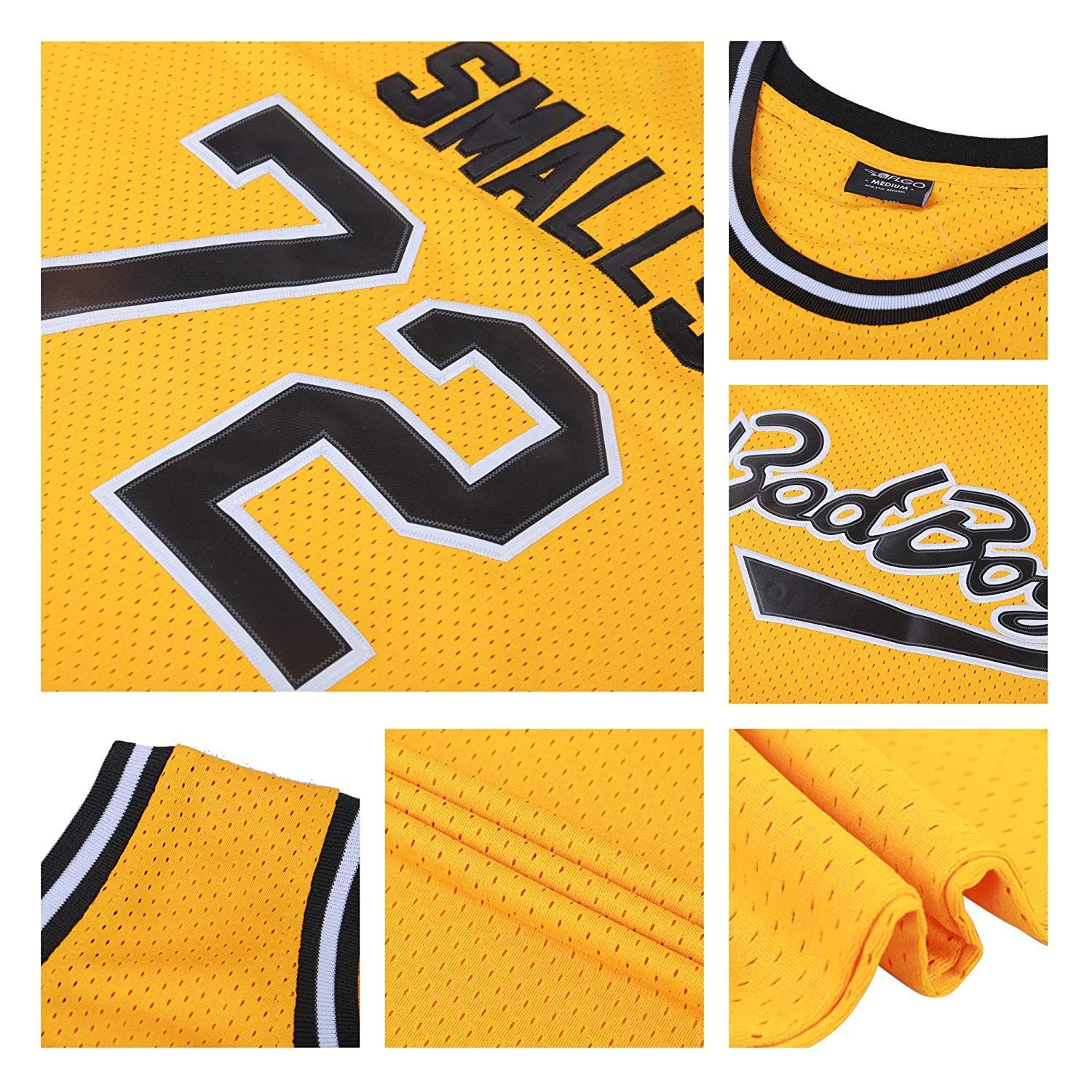 43d202687680 BadBoy 72 Smalls Notorious Biggie yellow jersey -  bad boy jersey   smalls notorious jersey  biggie jersey  yellow jersey