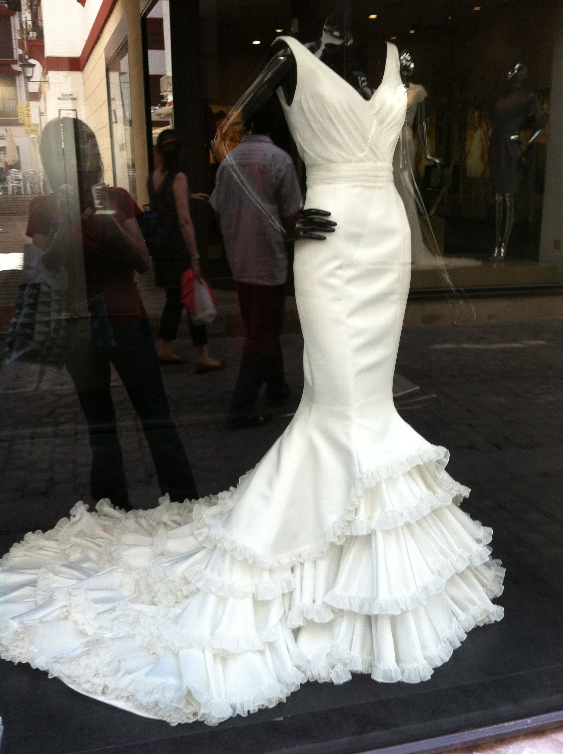 Look At This Flamenco Style Wedding Dress From A Boutique In