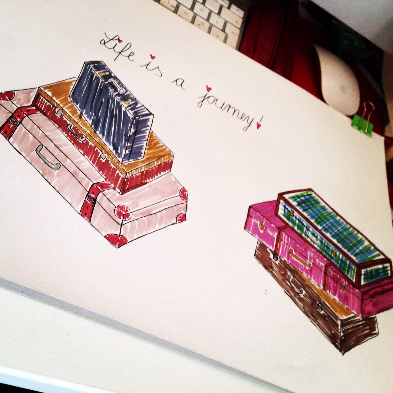 Life is a journey. Sketch/illustration.
