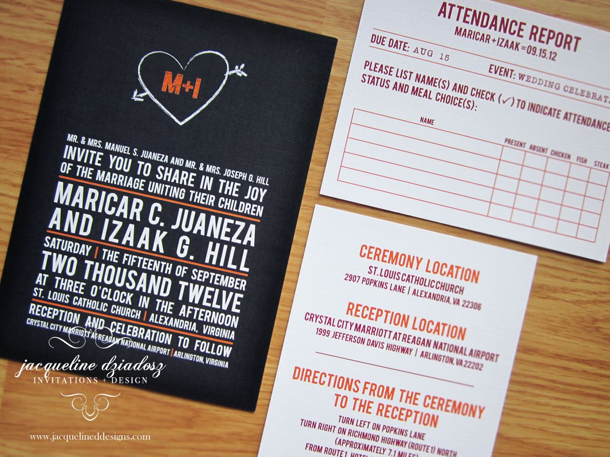 School Theme Wedding Invitations. Chalkboard | Designs | Pinterest ...