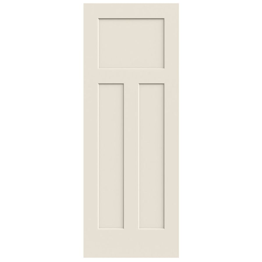 Jeld Wen Primed Solid Core 3 Panel Craftsman Slab Interior Door Common 28 In X 80 In Actual 28 In X 80 In Doors Interior Slab Door Jeld Wen
