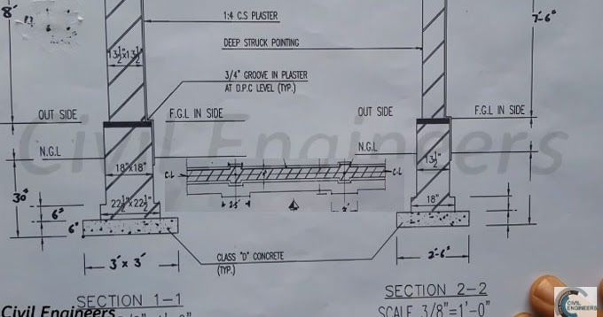 How To Study Drawing For The Column And Boundary Wall