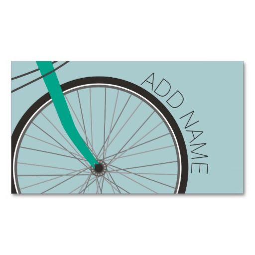Hipster Bicycle Wheel With Custom Name Business Card Zazzle Com In 2021 Bicycle Bicycle Diy Custom Bicycle