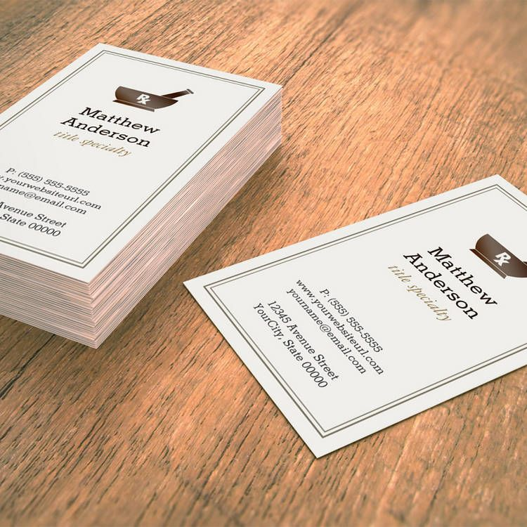 Pharmacy Pharmacist Druggist Logo Elegant Classic Business Card ...