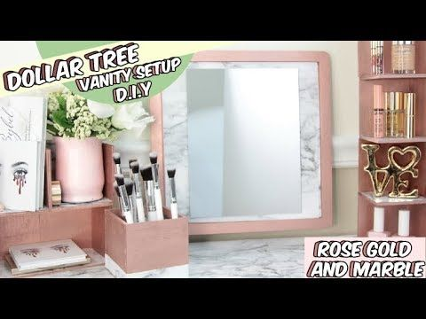 dollar tree rose gold and marble vanity diy youtube on incredible kitchen designs that will make you need to repeat yours id=17869