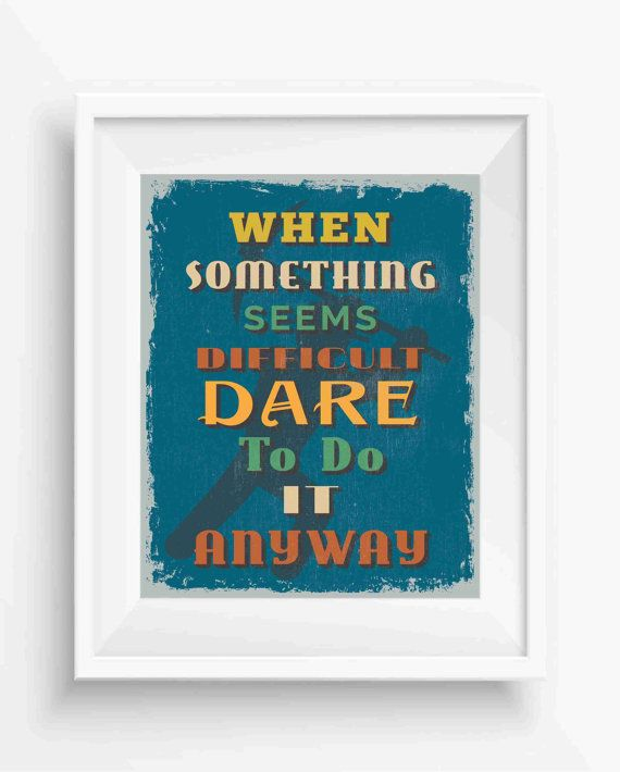 When Something seems,Retro Vintage Motivational Quote,positive ...