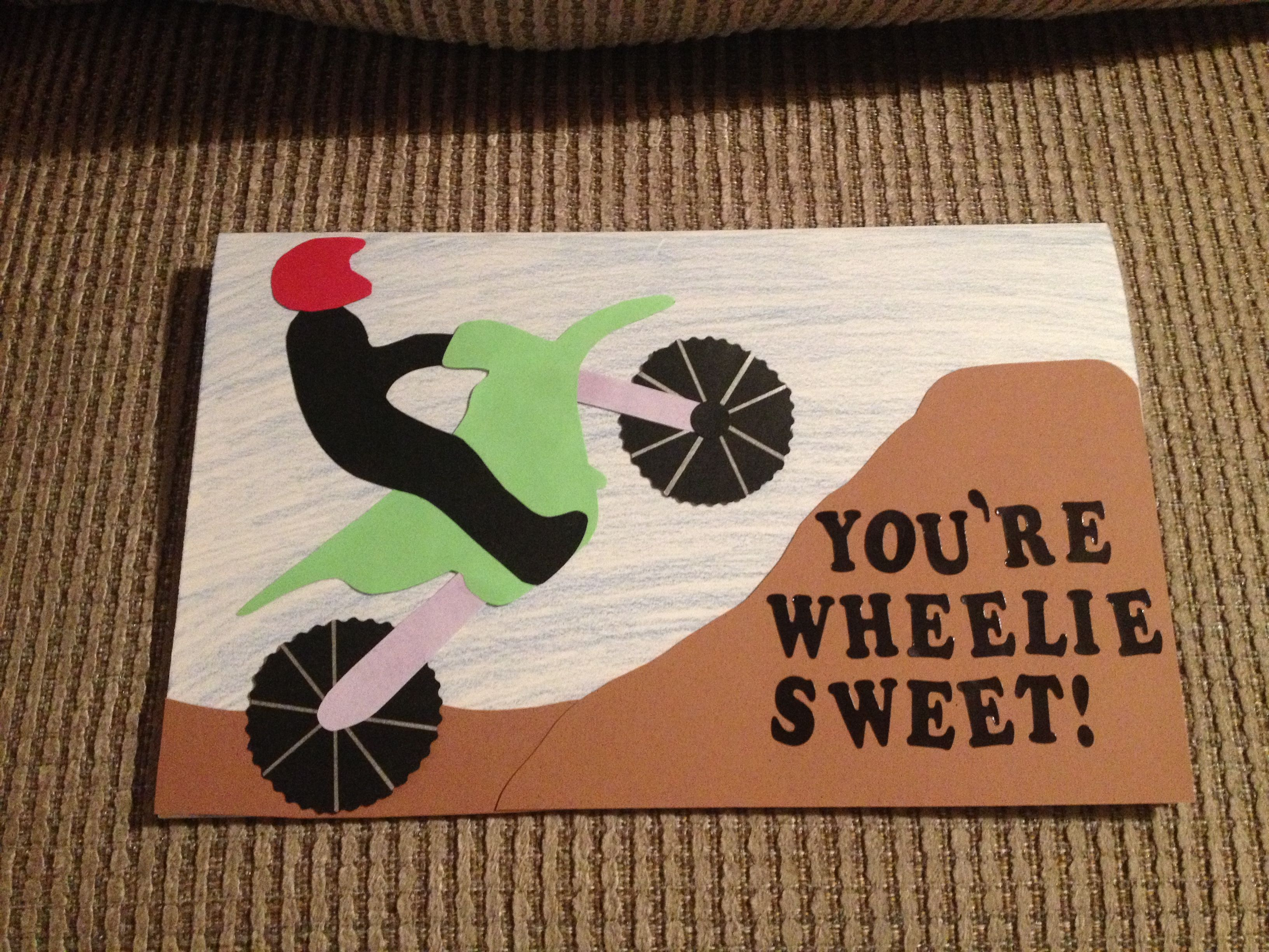 Valentine Day Card For A Guy Homemade Dirt Bike Card