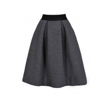 Quilted Grey Skirt, Grey A-Line Skirt, Cute Grey Skirt, Cute Fall ...