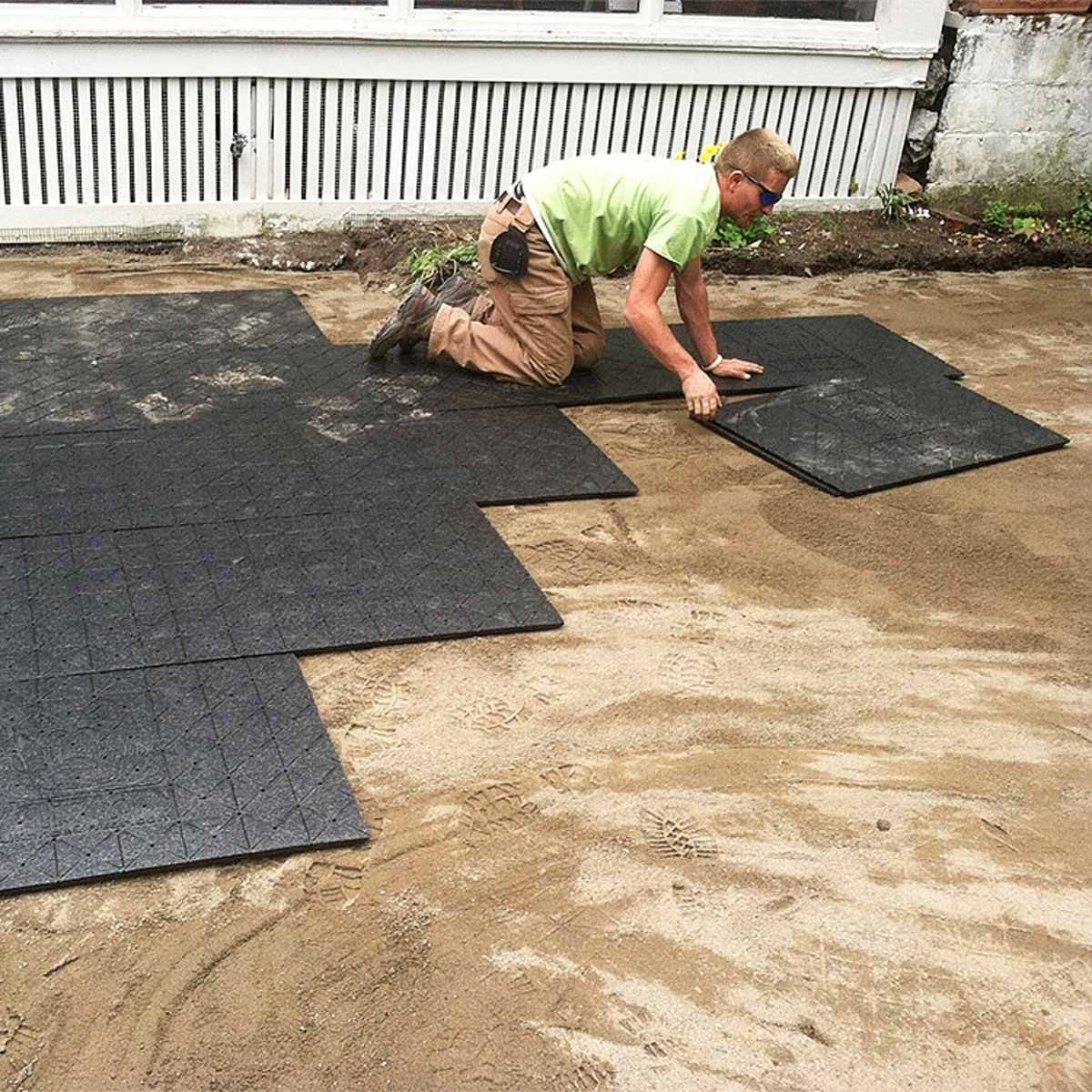 This Paver Patio Base Will Save Your Back is part of Paver patio, Pavers backyard, Diy backyard patio, Patio installation, Diy patio, Concrete patio - Plastic panels eliminate TONS of labor
