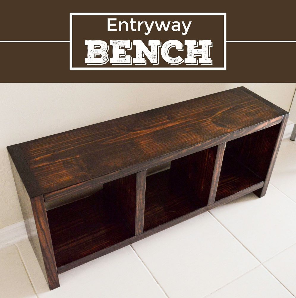 Diy entryway bench entryway bench bench and storage for Entryway mudroom bench