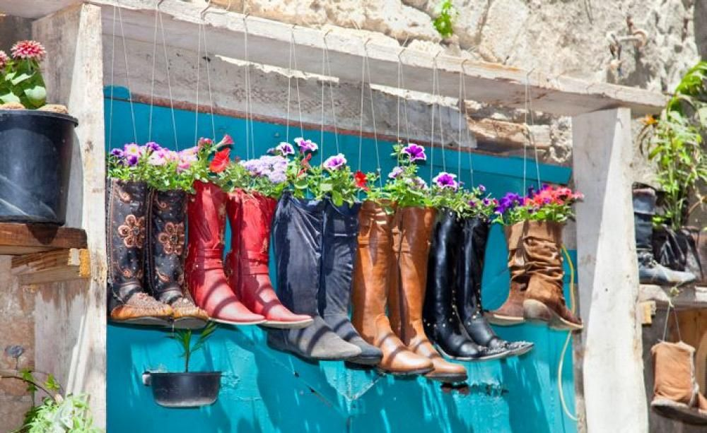 gartendeko vom flohmarkt | urban gardening, Gartenarbeit ideen