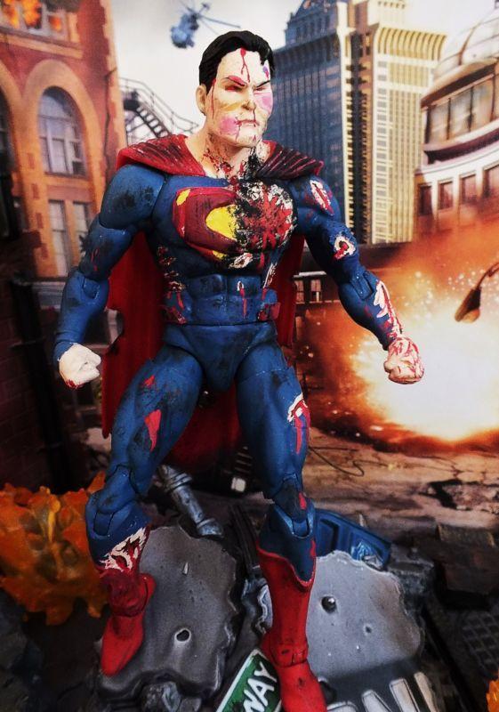 Superman Doomsday Damaged Dc Superheroes Custom Action Figure