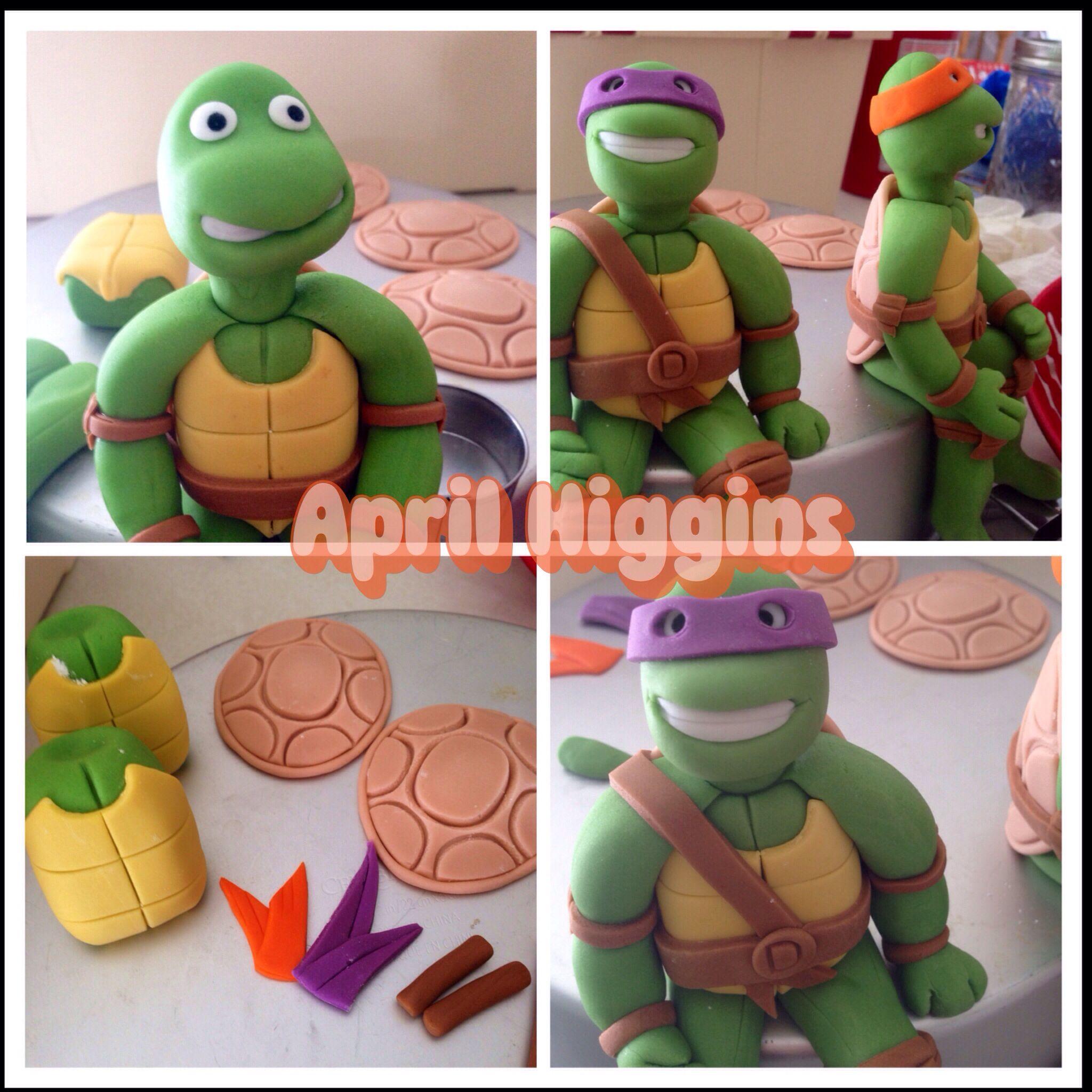 Teenage Mutant Ninja Turtles Ninja Turtle Cake Ninja Turtle Cake Topper Ninja Turtles Birthday Party