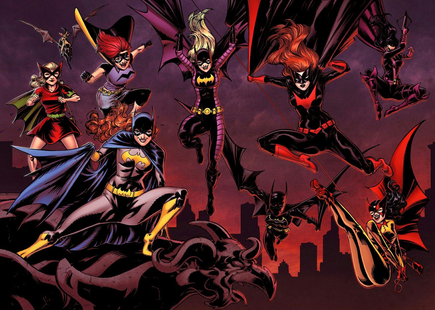 Women of Batman Batgirls, Batwomen, Huntress