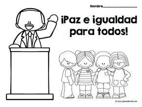 Martin Luther King Jr. Day in Spanish (dia de MLK) espanol ...
