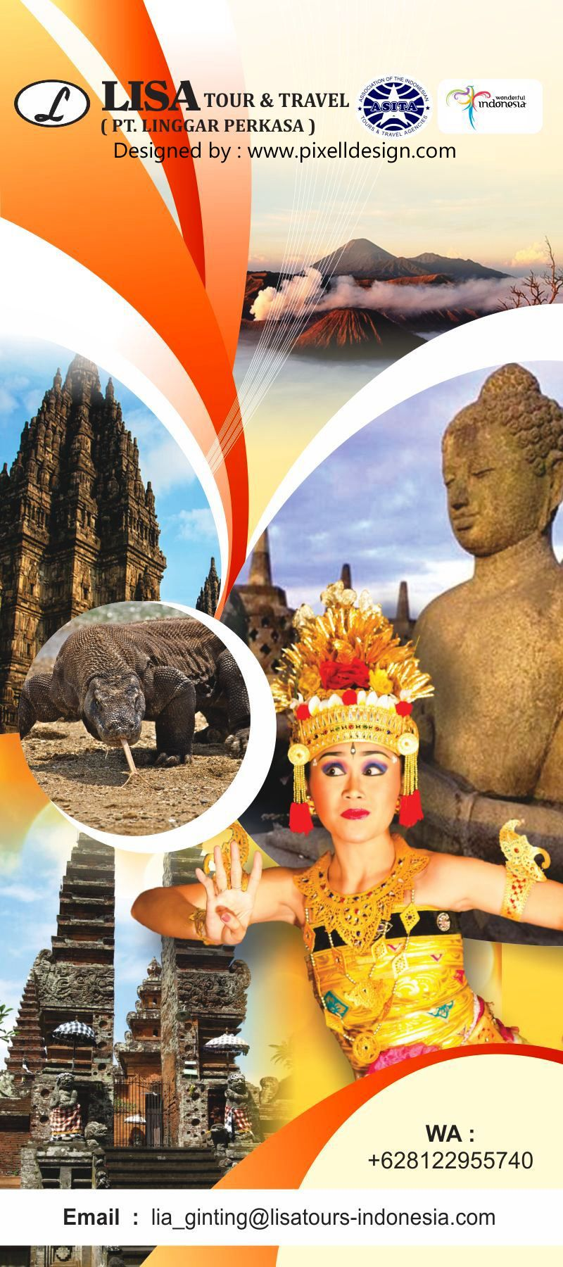 Desain Stand Banner Wisata Travel Agent Banner Travel Rolls