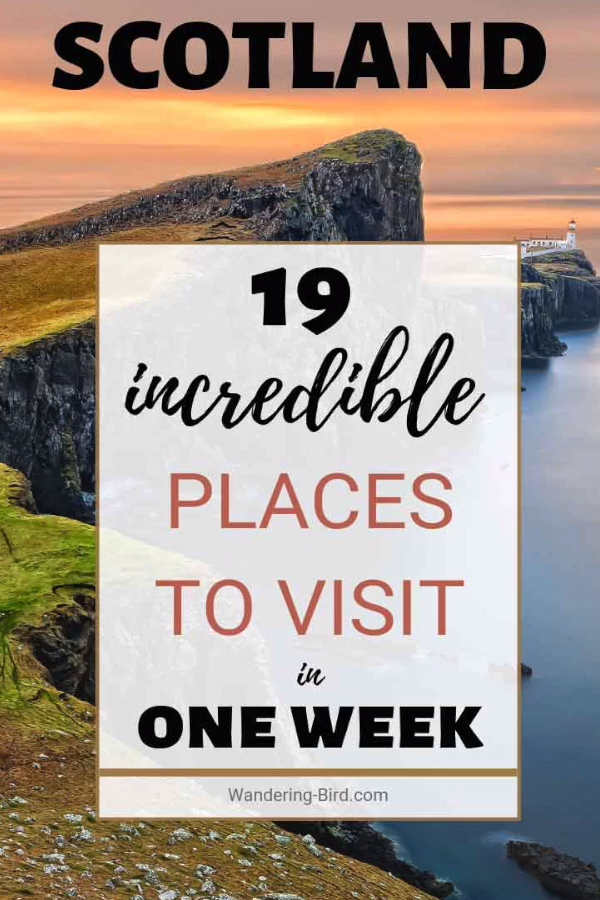 Looking for things to do in Scotland for a week? Here are 19 incredible places to visit and a perfect road trip travel itinerary (with map!) to help you plan your travels for 7 days. Scotland is a fantastic country to visit in Summer or Winter & most of these Scottish destinations can be visited all year. Includes Edinburgh, the Highlands, Isle of Skye, Loch Ness and more! It's everything you need to plan your travel to Scotland #scotland #scotlandtravel #highlands #itinerary #travel #map