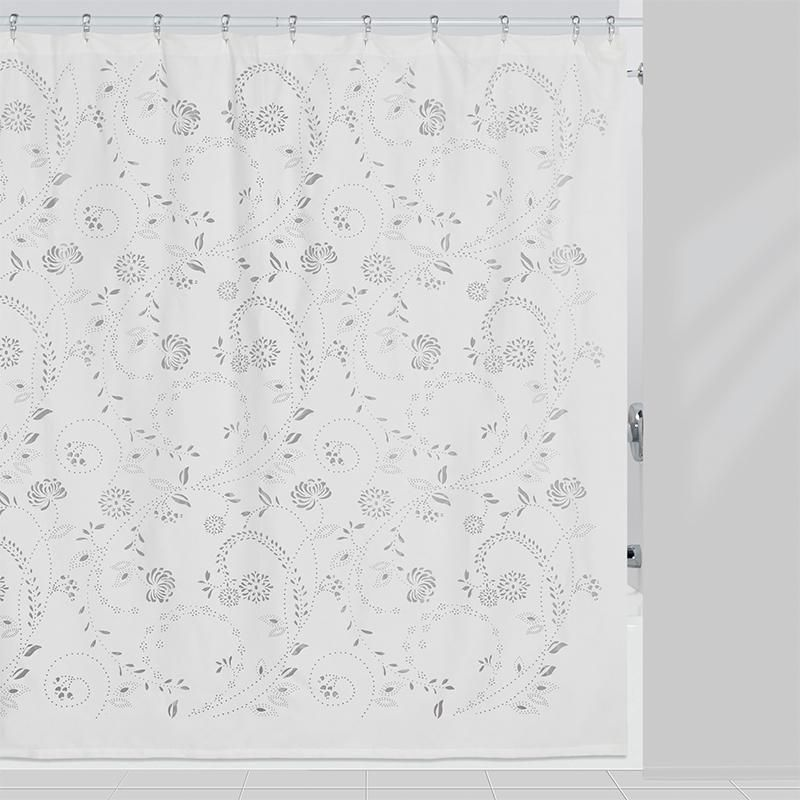 Eyelet Shower Curtain Fabric Shower Curtains White Shower
