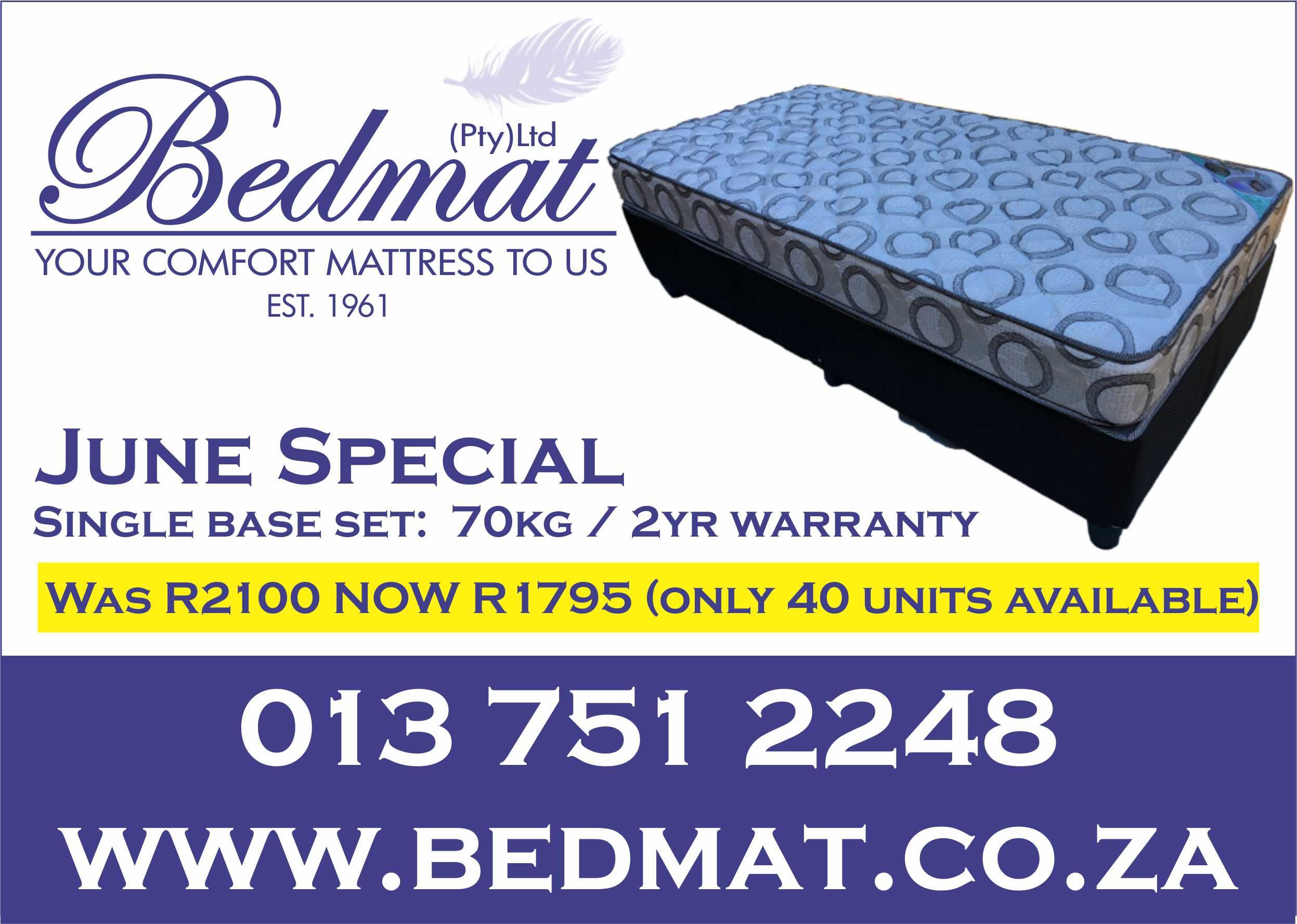 Bedmat Online White River South Africa Mattress White River Bed