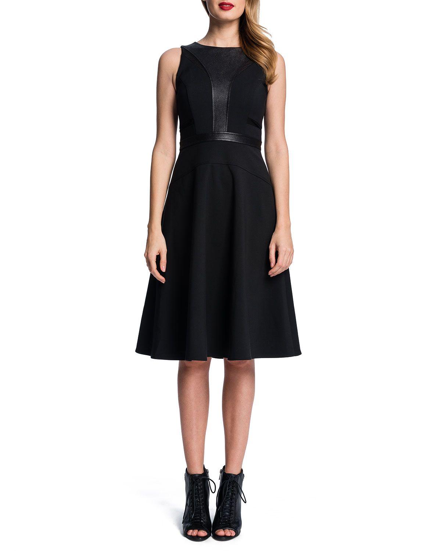 906180127f Sleeveless Fit & Flare Dress, Women's, Size: 12, Rich Black - Cynthia Steffe