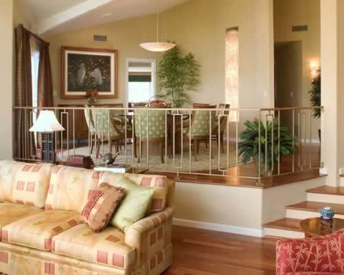Separating Your Living Room And Dining Room Sunken Living Room Raised Dining Room House Interior Decor