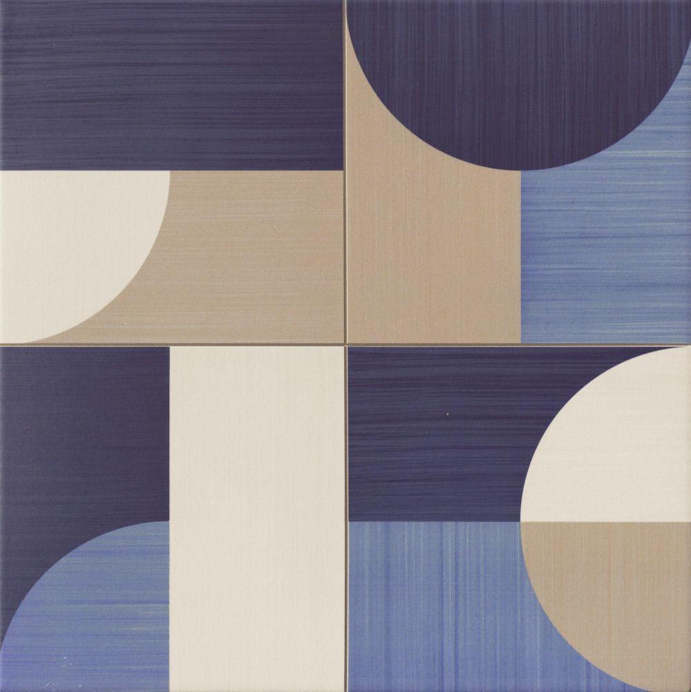 Carrelage Pop Art Deco Bleu Moon Blue 44x44 Cm 1 37m Deco