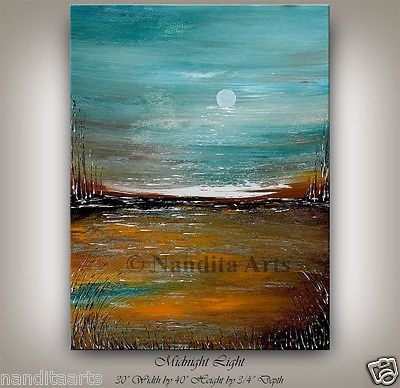 ABSTRACT-PAINTING-Modern-Blue-Landscape-Art-Contemporary-Art-Turquoise-Artwork