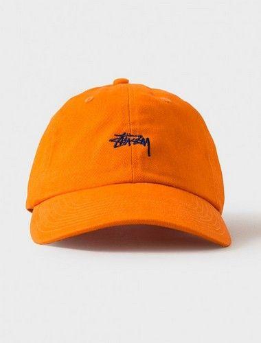 STUSSY Curved Baseball Caps-Orange  3fcba88cecc