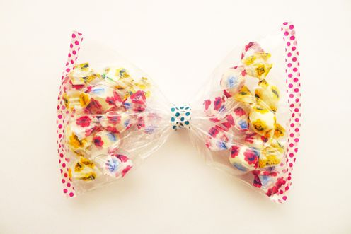 bow with sweets inside!