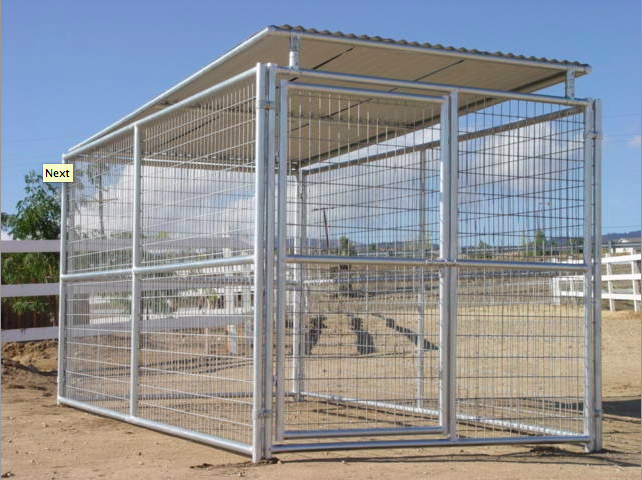 Heavy Duty Outdoor Single Run Dog Kennel With Roof Shelter Dog Kennel Roof Dog Kennel Dog Kennel Cover
