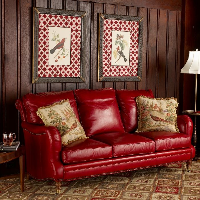 Leather Furniture Traveler Collection: Beautiful Red Leather Sofa. From The Source Collection