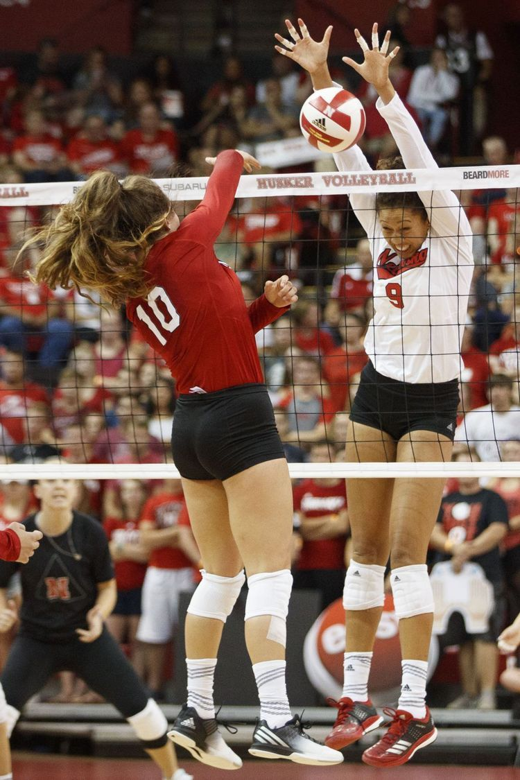 Idea By I Believe Sports On Volleyball Female Volleyball Players Volleyball Players Husker Football