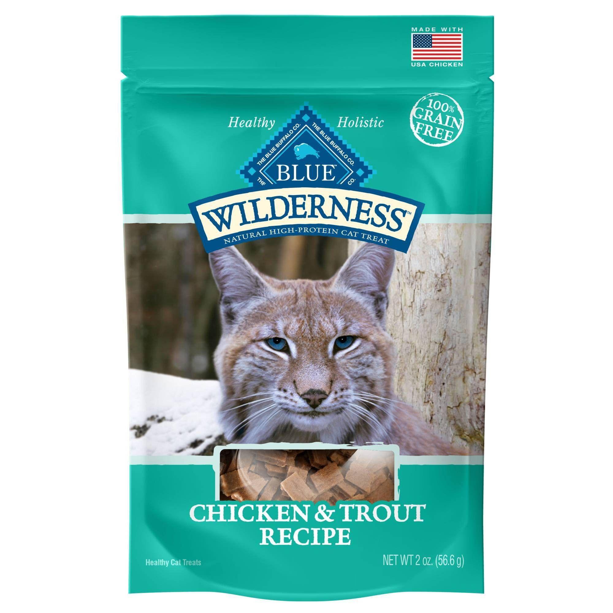 Blue Buffalo Wilderness Grain Free Chicken Trout Recipe Crunchy Cat Treats 2oz In 2020 Blue Buffalo Free Cats Food Animals