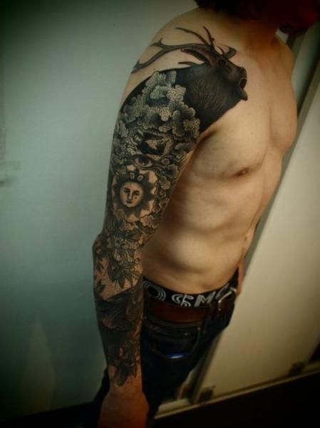 right sleeve animal tattoo for guys full and half sleeve tattoos pinterest animal tattoos. Black Bedroom Furniture Sets. Home Design Ideas