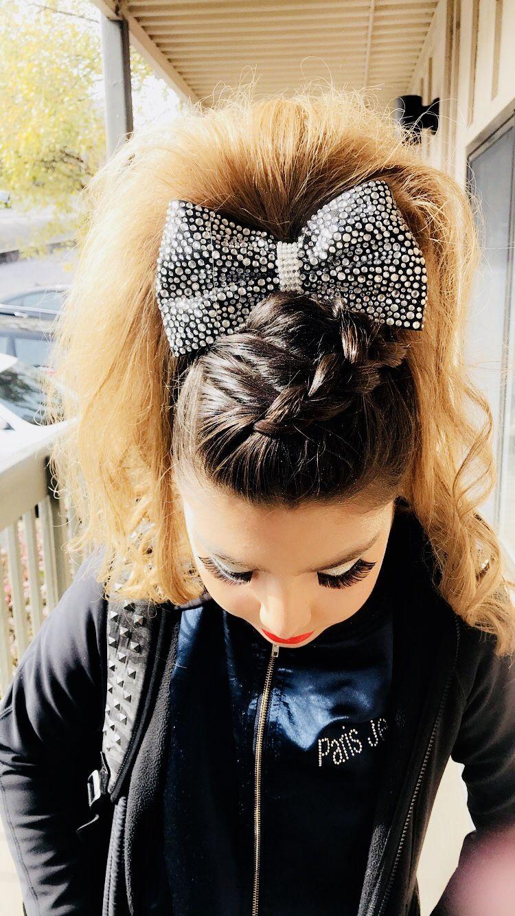 cheer hair love the side braid. | competitive cheer