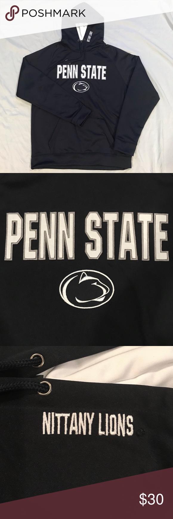 Penn State Hooded Sweatshirt Colosseum Size Large Hooded Sweatshirts Sweatshirts Sweatshirt Shirt [ 1740 x 580 Pixel ]