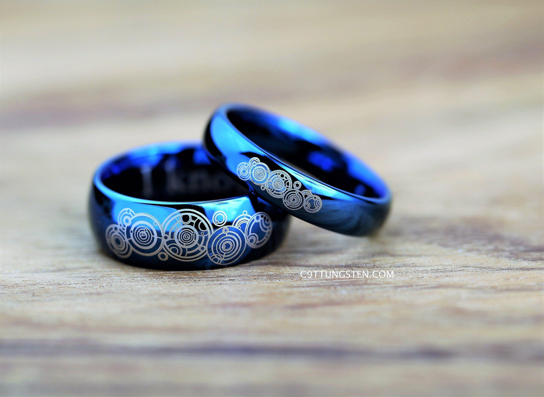 Doctor Who Inspired 4mm 8mm Tungsten Wedding Ring Deep Etsy Tungsten Wedding Rings Buy Wedding Rings Wedding Rings