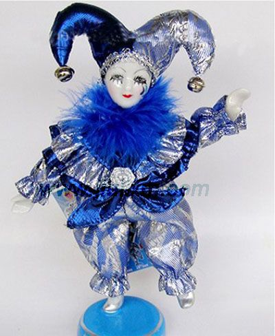 female porcelain clowns and jesters | Clown Doll (JL-09071) - China