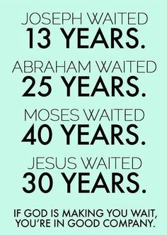 Tired of Waiting for God's Promise to be Fulfilled?