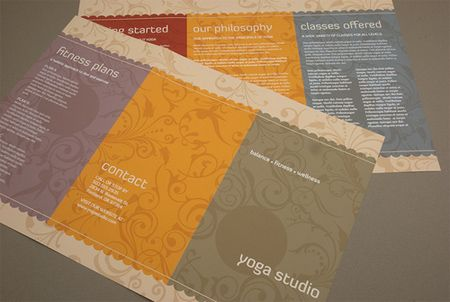 Yoga Studio Brochure Brochure Ideas Pinterest - studio brochure