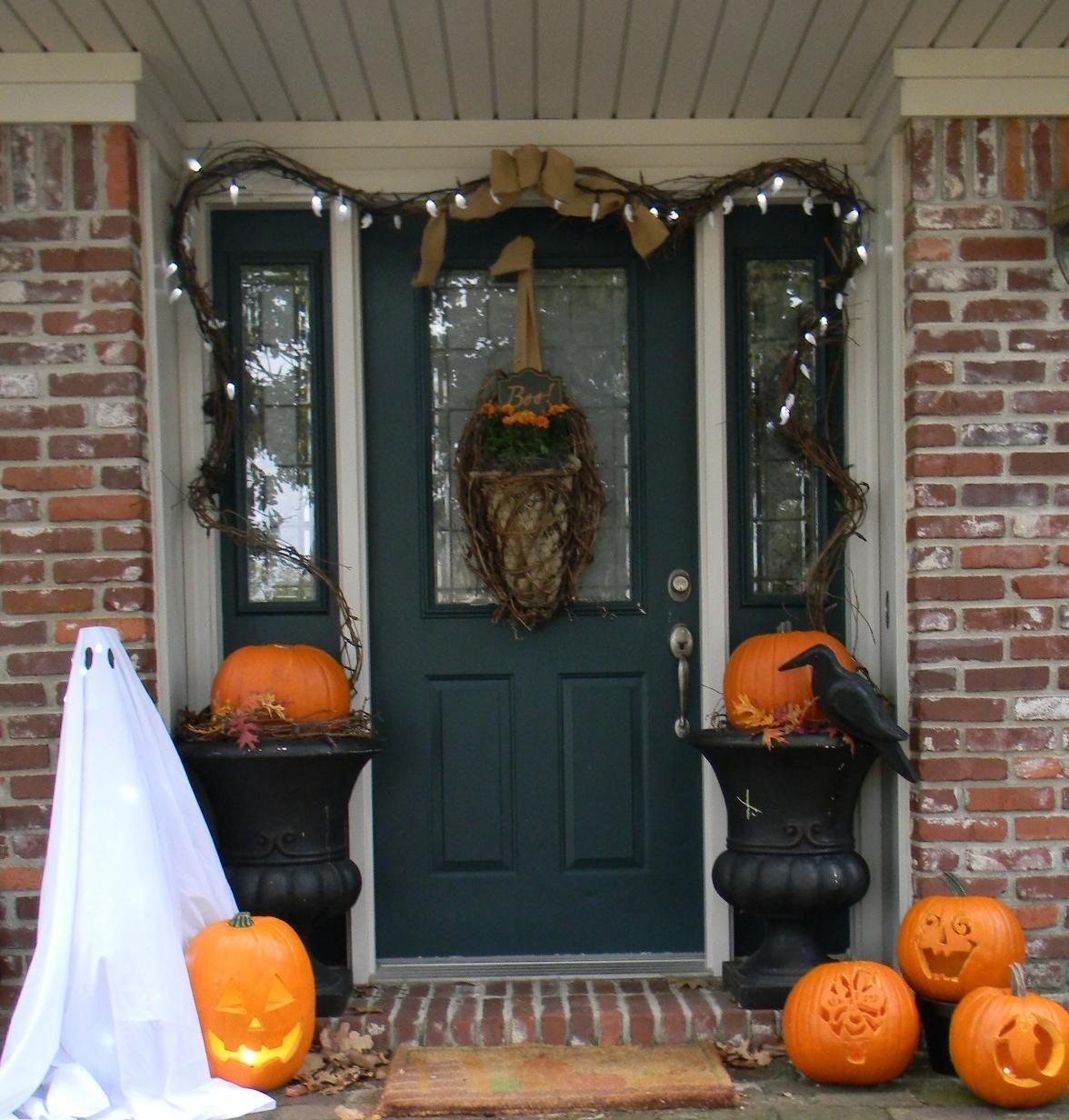 autumn door decorations   Hallowen   Pinterest   Halloween ...