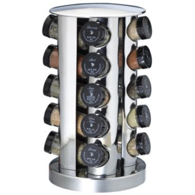 20 Jar Stainless Steel Spice Rack Found At Jcpenney Coisas De