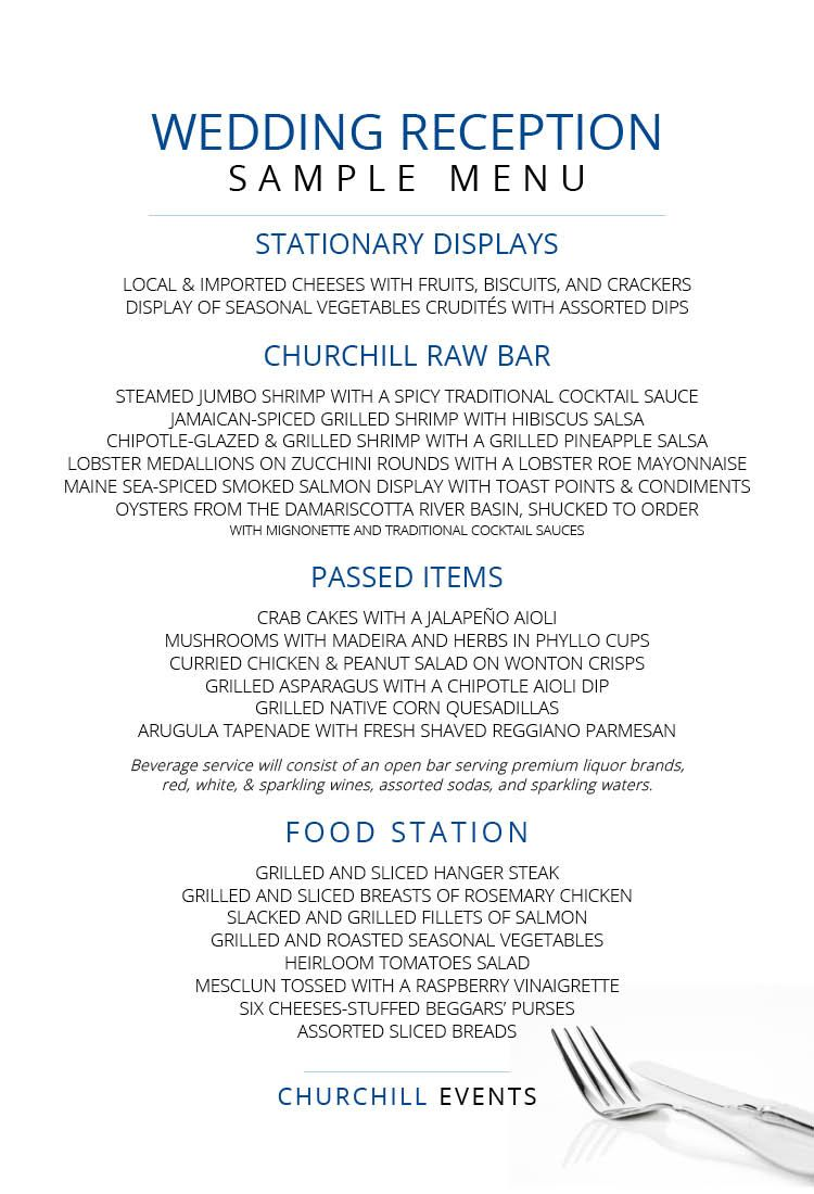 Sample Wedding Reception Menu Featuring Damariscotta Oysters Lobster Medallions Locally Sourced Vegetables And Perfectly Prepared Main Courses