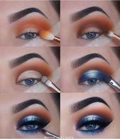 Photo of Lidschatten für blaue Augen  Make-up Look für blaue Augen  blauer Lidschatten …