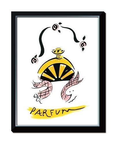 Famous Parfum Print from Carrie Bardshawu0027s Apartment by TulleDress - wellmann küchenschränke nachkaufen