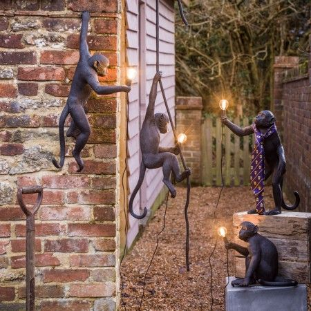 Outdoor monkey lamps decorative string lights graham green