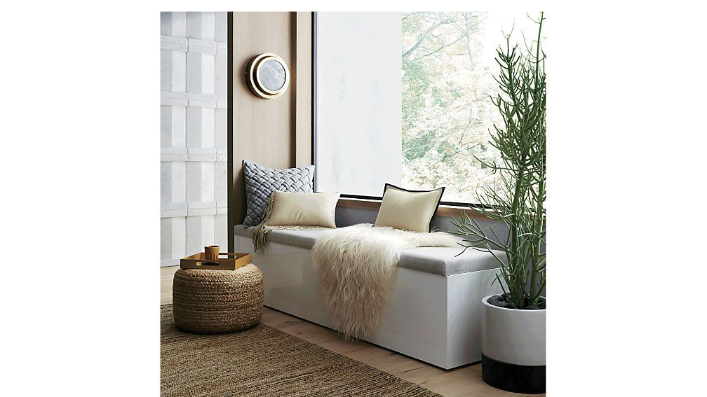 Catch All Large White Storage Bench