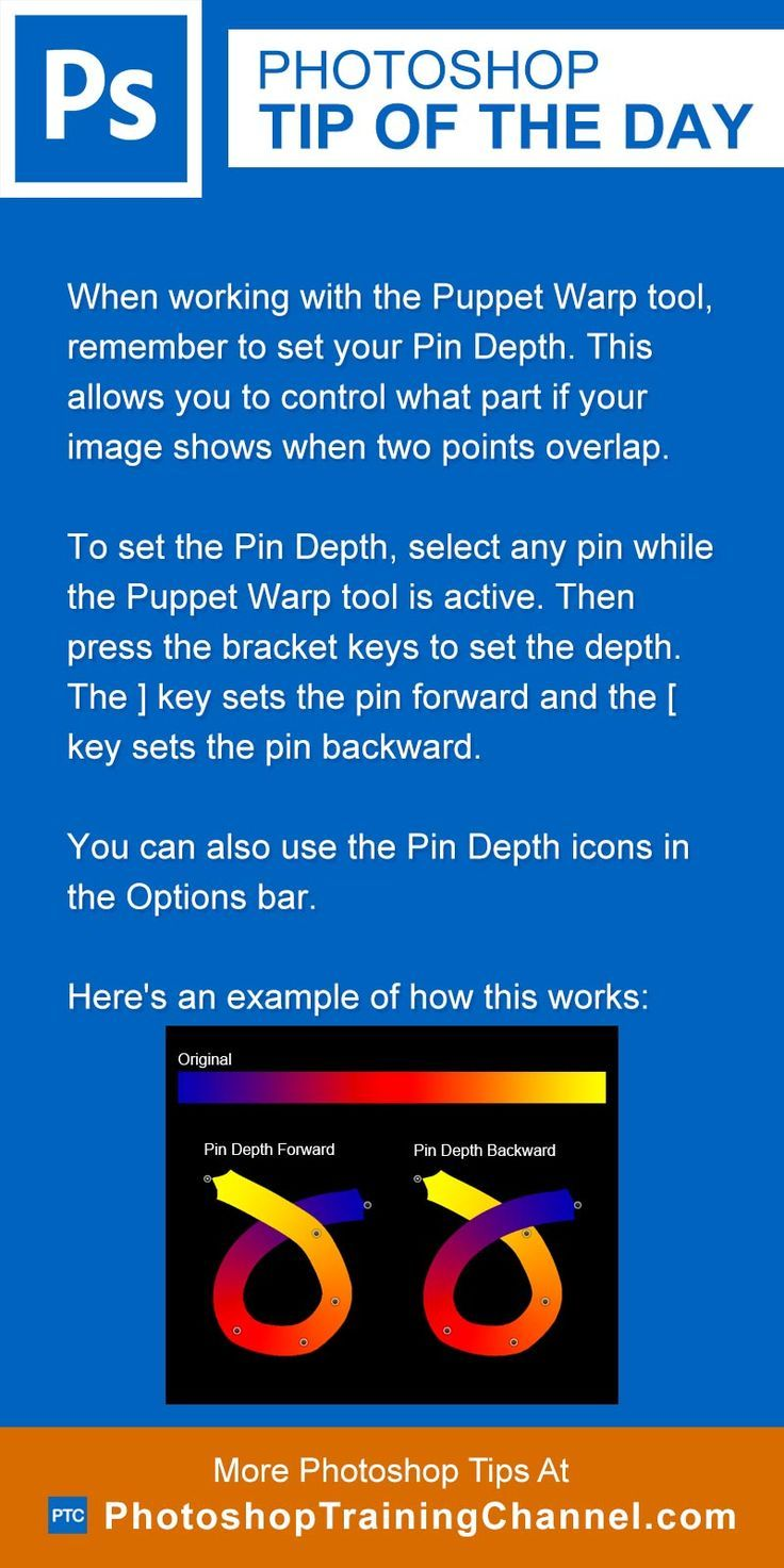 Setting pin depth in puppet warp photoshop lightroom and photoshop tip of the day puppet warp tool photoshop tips nordic360 baditri Choice Image